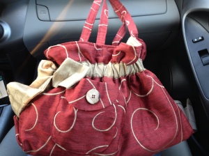 Thanks so much for the bag! I got it, and it's beautiful. :-) It's taking its first ride!